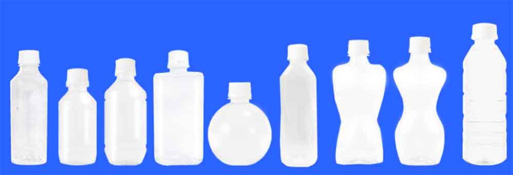 9つの豊富なペットボトル