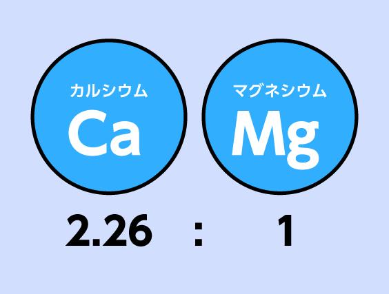 カルシウム2.26:マグネシウム1